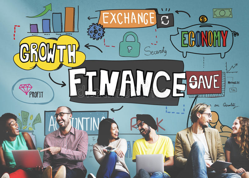 Concetto di contabilità finanziario del reddito di profitto di attività bancarie di finanza fotografia stock