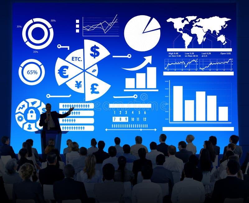 Concetto di contabilità finanziario di scambio di economia di affari di finanza fotografia stock libera da diritti