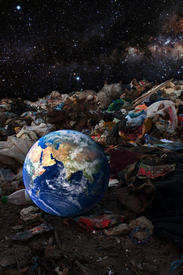 Concetto di contaminazione dell'ambiente fotografie stock libere da diritti