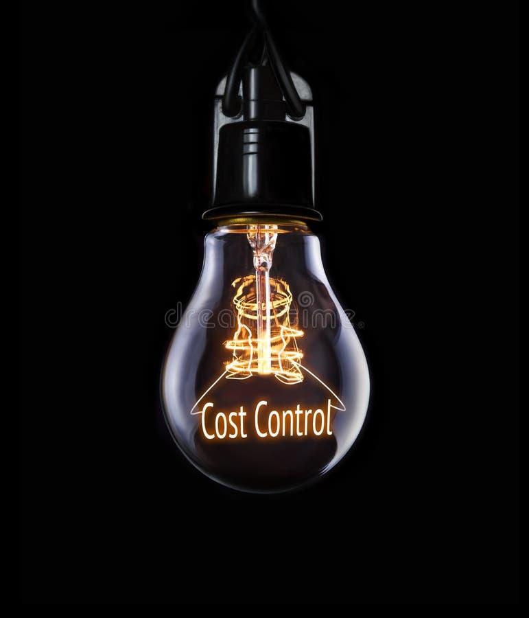 Concetto di controllo dei costi fotografia stock libera da diritti