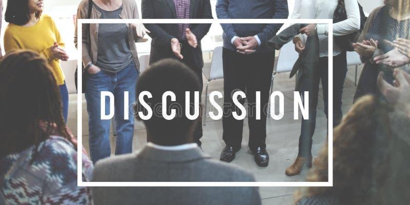 Concetto di conversazione del collegamento di conversazione di discussione fotografie stock