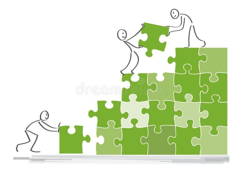 Concetto di cooperazione royalty illustrazione gratis