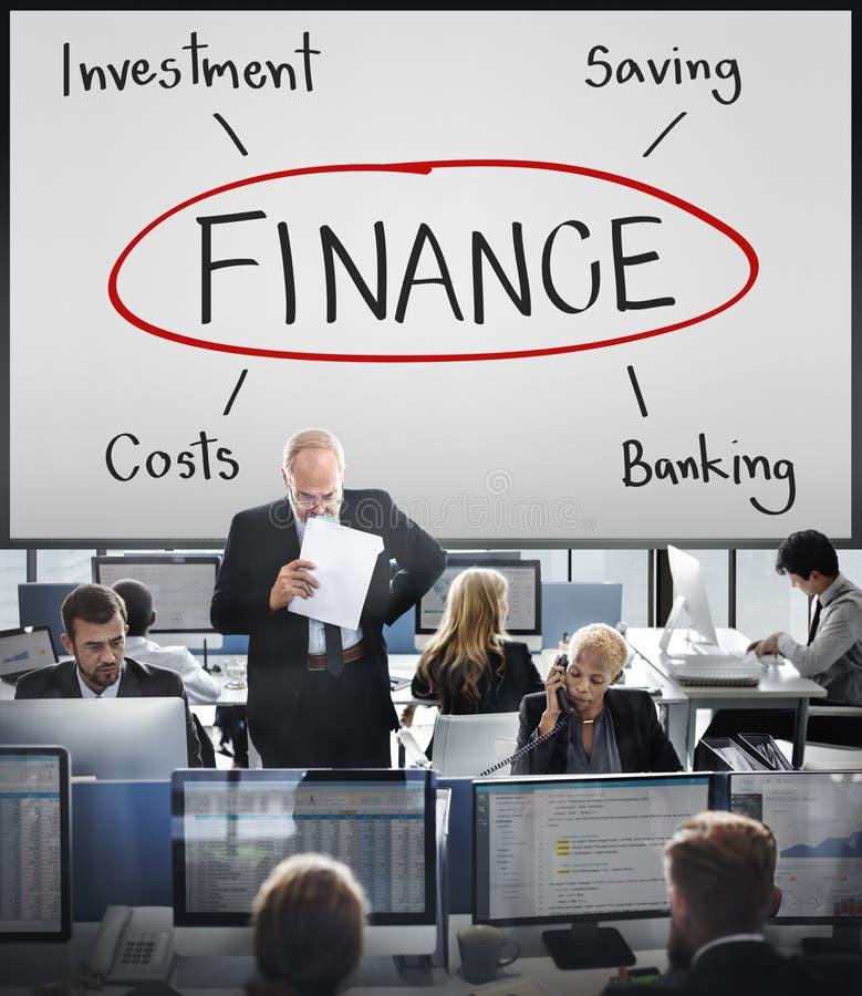 Concetto di costo di attività bancarie di investimento di finanza fotografie stock libere da diritti