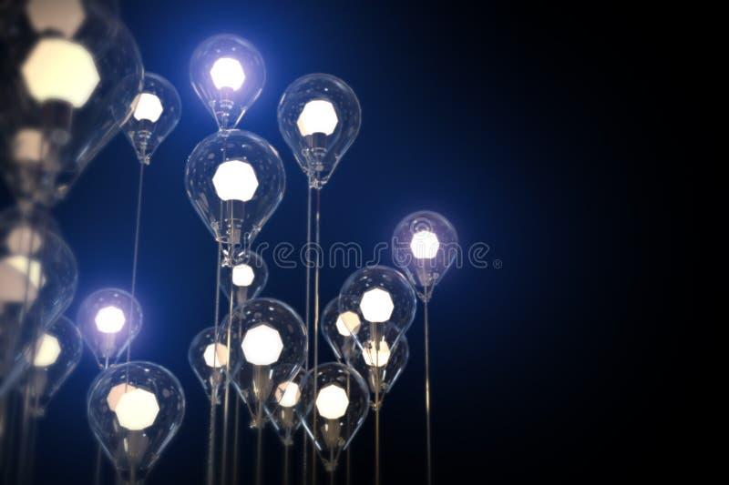 concetto di creatività di idea delle lampadine fotografie stock