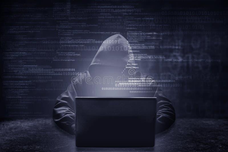 Concetto di crimine di Internet immagini stock libere da diritti