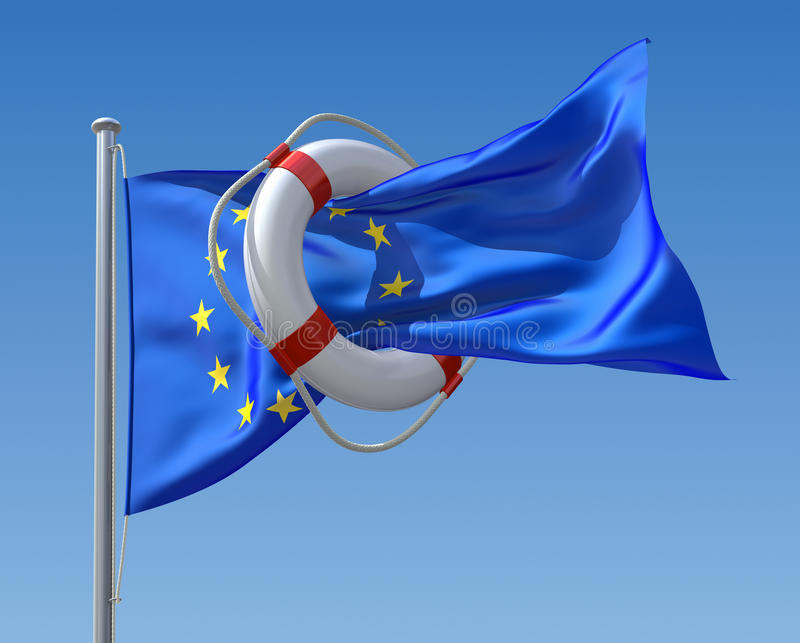 Concetto di crisi dell'Ue illustrazione vettoriale