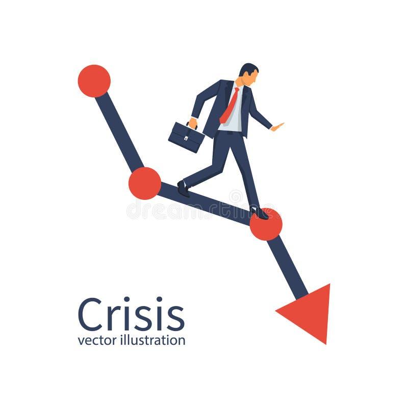 Concetto di crisi finanziaria illustrazione di stock