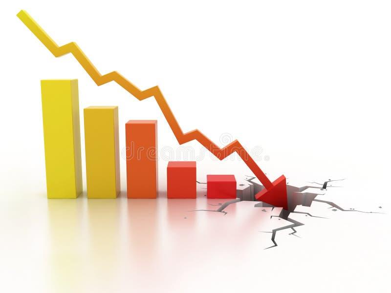 Concetto di crisi finanziaria di affari illustrazione vettoriale