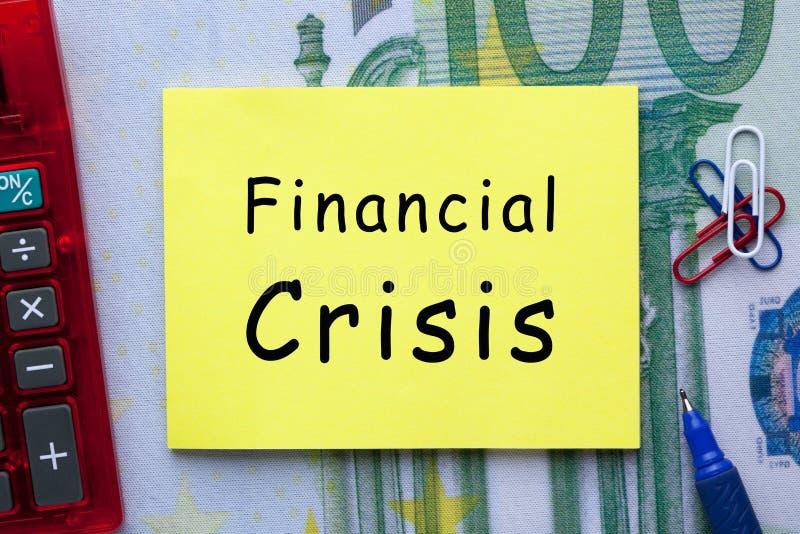 Concetto di crisi finanziaria fotografia stock libera da diritti
