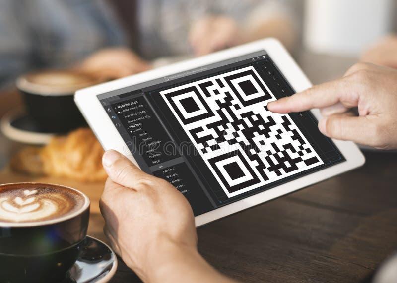 Concetto di crittografia dell'identificazione di dati di codice a barre immagine stock libera da diritti