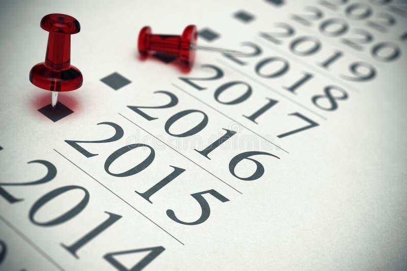 2015 - Concetto di cronologia illustrazione di stock