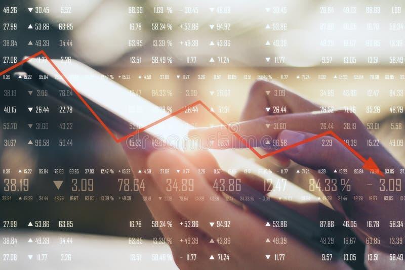 Concetto di declino economico immagini stock