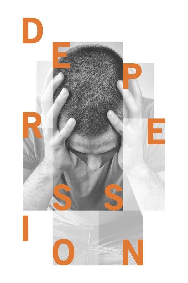 Concetto di depressione fatto con la parola Depressione di parola Illustrazione di vettore royalty illustrazione gratis