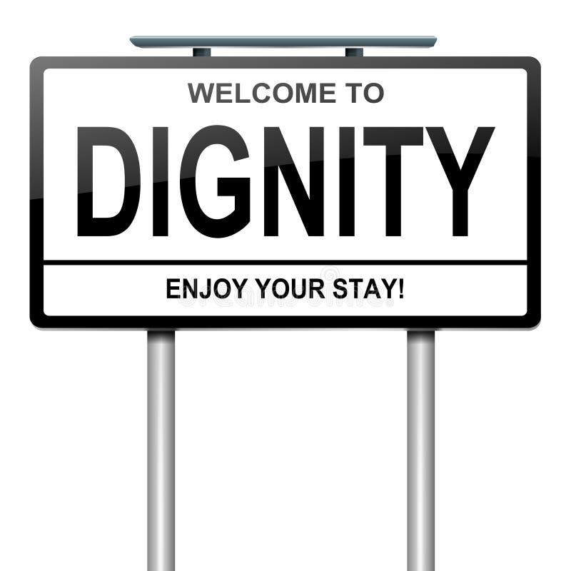 Concetto di dignità. royalty illustrazione gratis