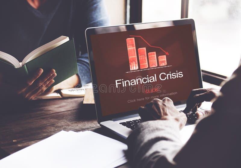 Concetto di diminuzione di guasto di depressione di crisi finanziaria immagine stock libera da diritti
