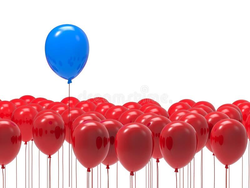 Concetto di direzione con il pallone blu illustrazione vettoriale