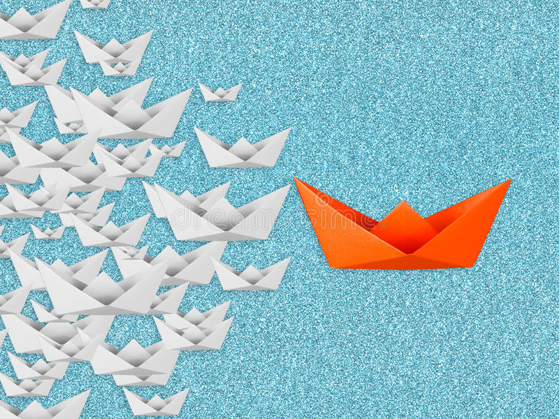 Concetto di direzione con la barca di carta royalty illustrazione gratis