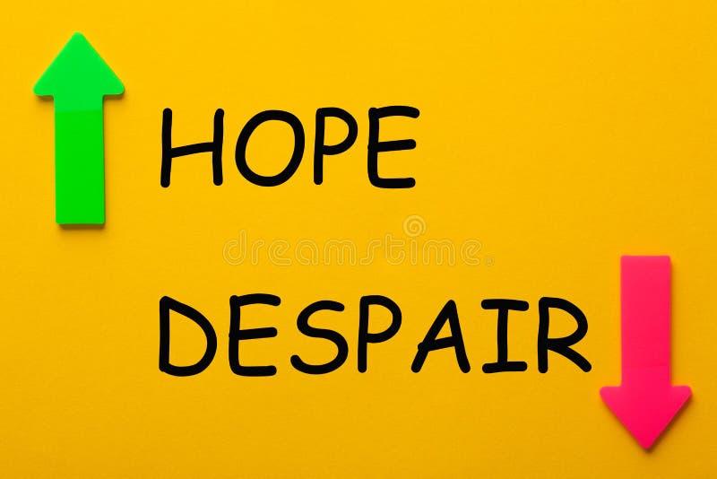 Concetto di disperazione di speranza immagine stock