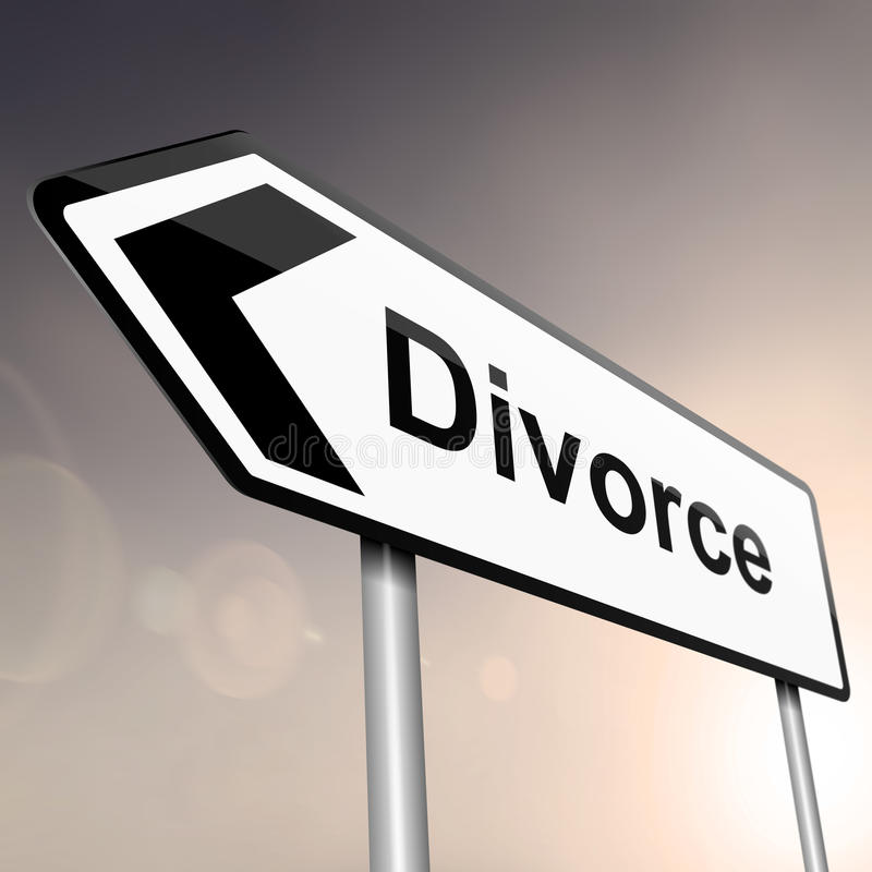 Concetto di divorzio. royalty illustrazione gratis