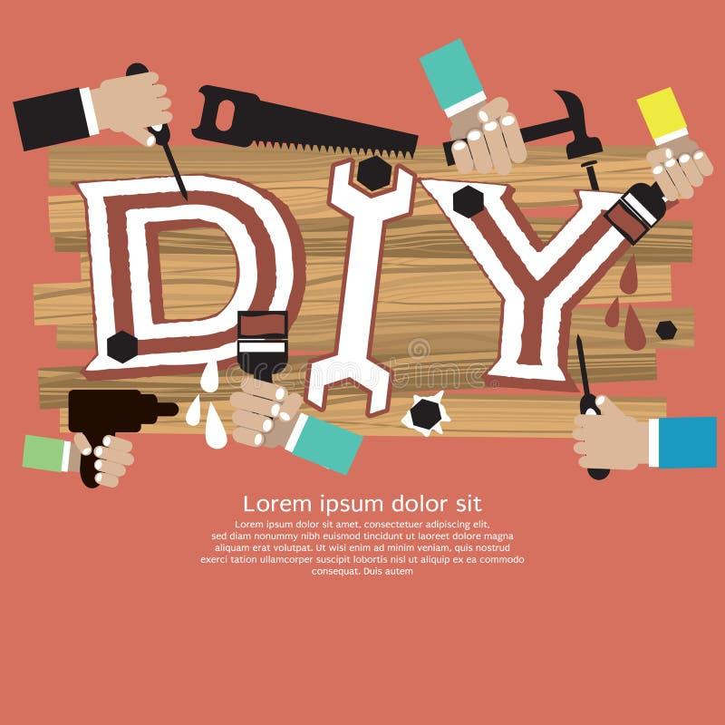 Concetto di DIY. illustrazione vettoriale