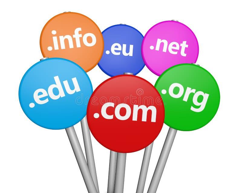 Concetto di Domain Name di Internet illustrazione vettoriale