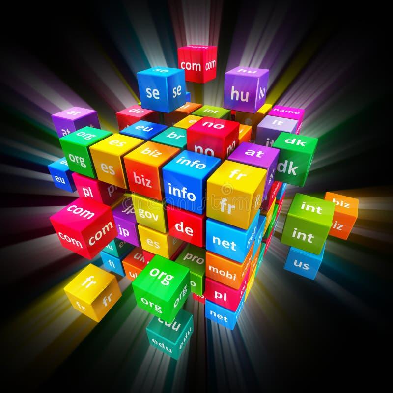 Concetto di Domain Name e di Internet illustrazione di stock