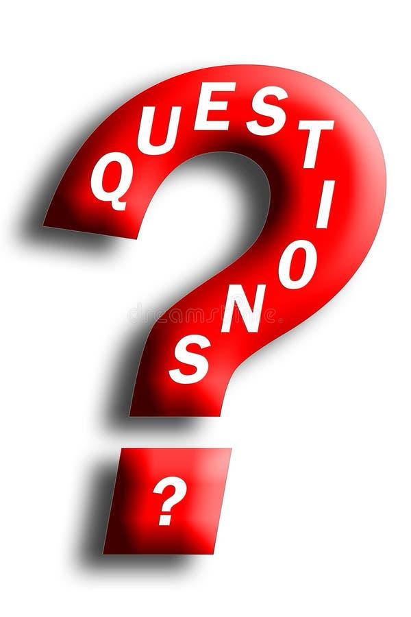 Concetto di domande incluso in un punto interrogativo illustrazione di stock