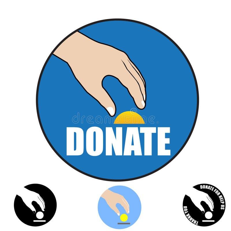 Concetto di donazione illustrazione di stock