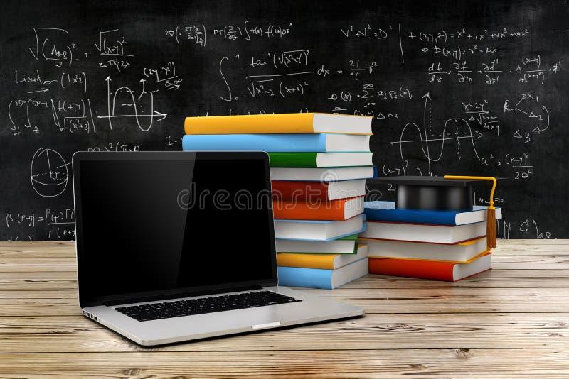 concetto di e-learning 3d e di istruzione illustrazione di stock