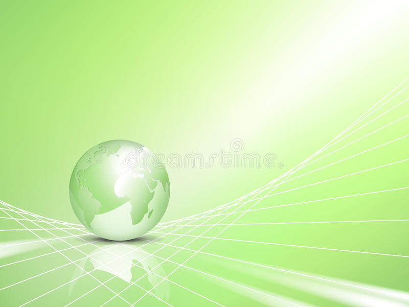 Concetto di Eco - priorità bassa di affari con il globo royalty illustrazione gratis