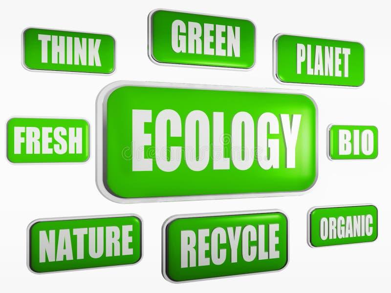 Concetto di ecologia illustrazione di stock