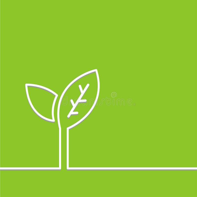 Concetto di ecologia dell'albero - vettore verde del fondo fotografia stock