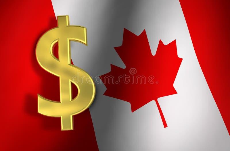 Concetto di economia del Canada di simbolo del dollaro canadese royalty illustrazione gratis