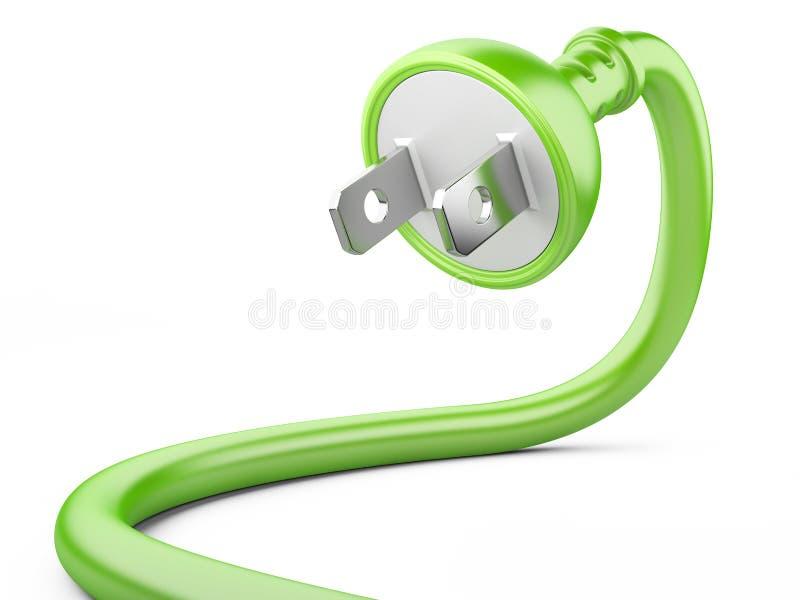 Concetto di energia di Eco. spina elettrica royalty illustrazione gratis