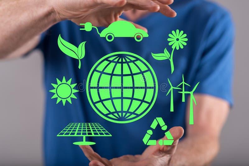 Concetto di energia pulita immagine stock
