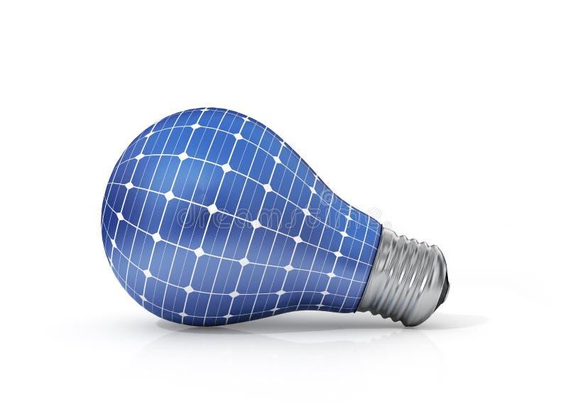 Concetto di energia solare Energia verde immagine stock libera da diritti