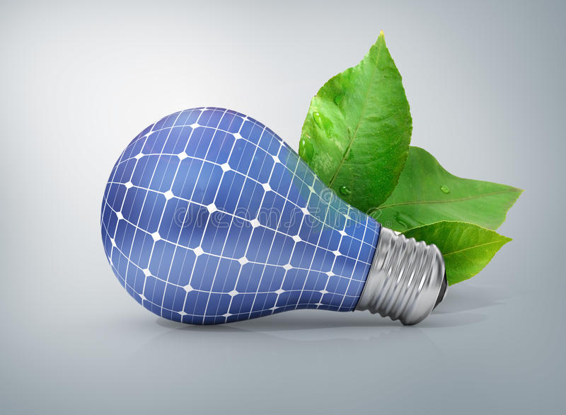 Concetto di energia solare Energia verde fotografie stock