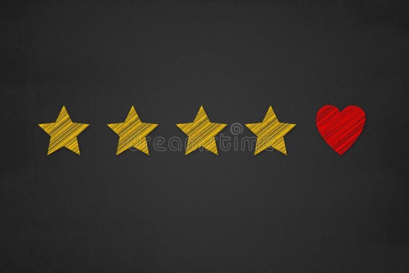 Concetto di esperienza del cliente, migliori servizi eccellenti che valutano per immagine stock libera da diritti