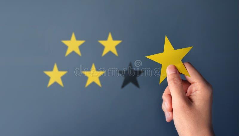 Concetto di esperienza del cliente, migliori servizi eccellenti per Satisfa immagini stock