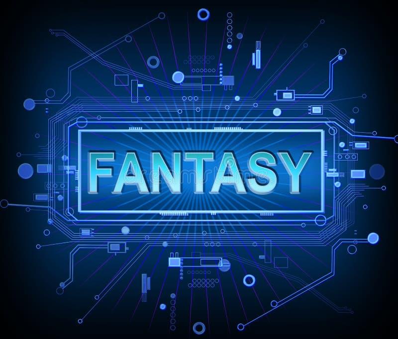 Concetto di fantasia di tecnologia royalty illustrazione gratis