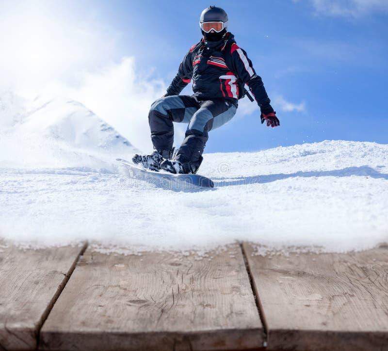Concetto di festa e degli sport invernali fotografia stock