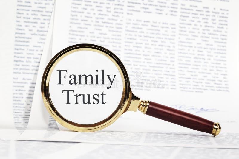 Concetto di fiducia della famiglia fotografia stock
