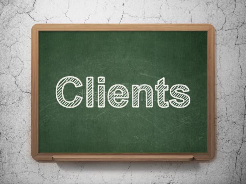 Concetto di finanza: Clienti sul fondo della lavagna royalty illustrazione gratis