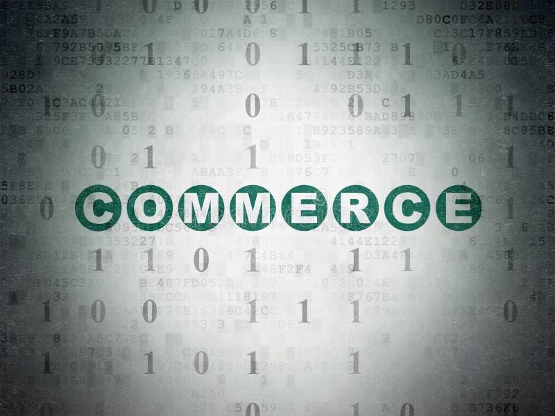 Concetto di finanza: Commercio sul fondo della carta di dati di Digital royalty illustrazione gratis