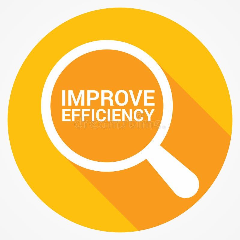 Concetto di finanza: Il vetro ottico d'ingrandimento con le parole migliora l'efficienza royalty illustrazione gratis