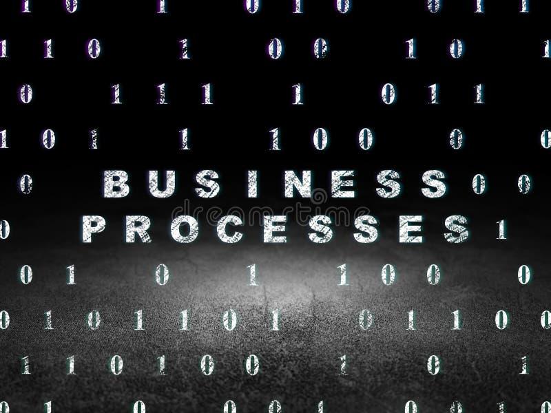 Concetto di finanza: Processi aziendali nello scuro di lerciume immagine stock libera da diritti