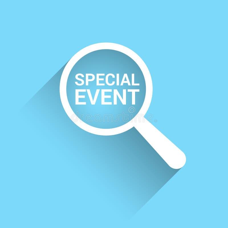 Concetto di finanza: Vetro ottico d'ingrandimento con l'evento speciale di parole royalty illustrazione gratis
