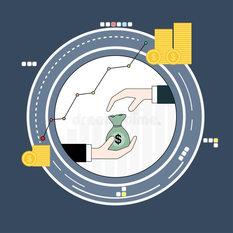 Concetto di finanziamento e di investimento aziendale illustrazione di stock