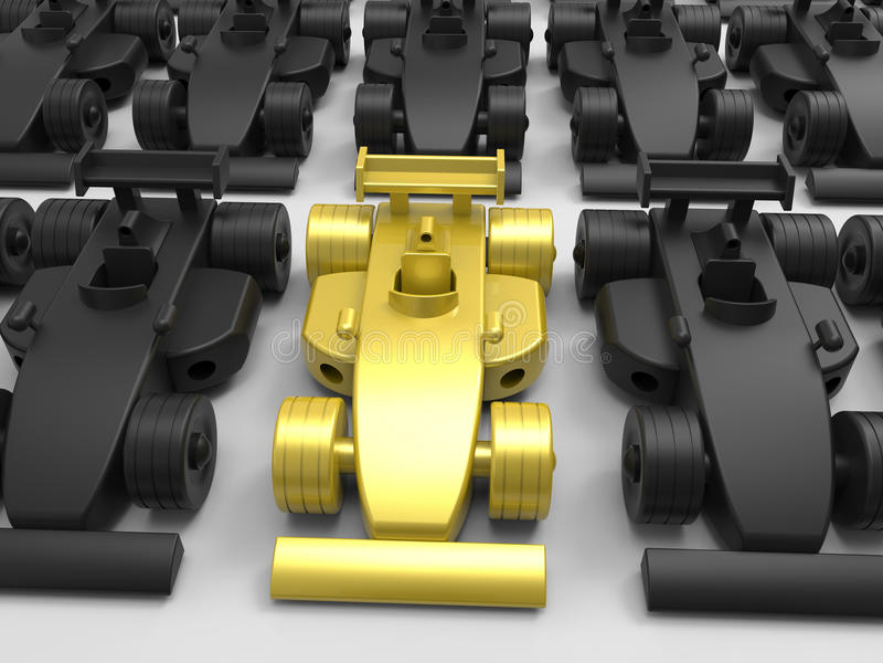 Concetto di Formula 1 del campione royalty illustrazione gratis