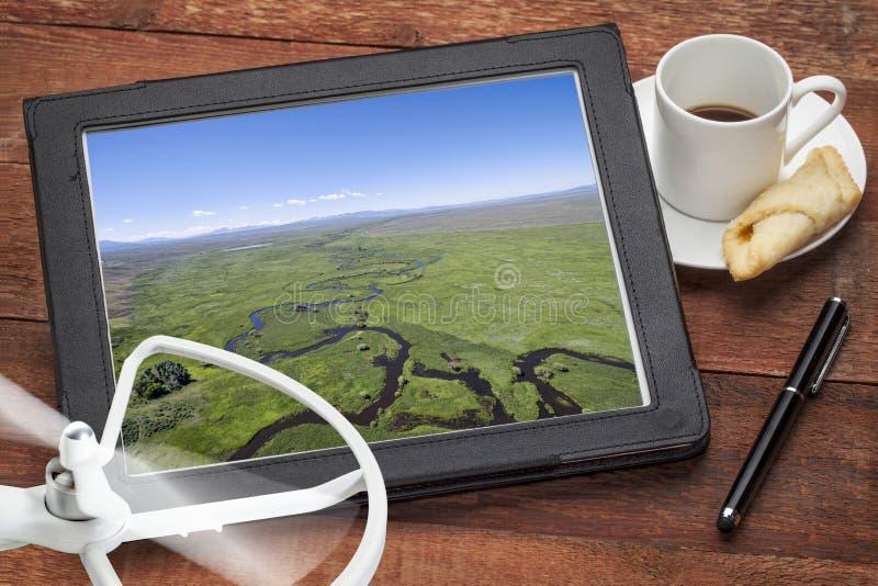 Concetto di fotografia aerea immagini stock libere da diritti